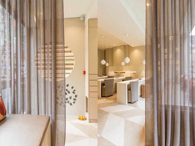 architecture int rieure pour l 39 institut nailsparis paris 6 me une r alisation de l 39 agence moha. Black Bedroom Furniture Sets. Home Design Ideas